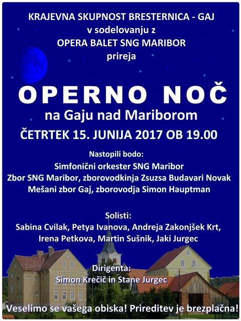 Operna noč Gaj nad Mariborom